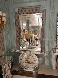 Hot Sale cristal flottant Table console en miroir avec miroir au mur
