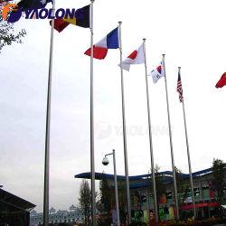 Mât conique extérieur professionnel personnalisé Unité manuelle drapeau en aluminium brossé satin Pole 15m