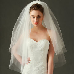Populaire 3 van Tuller van de Bruids van het Huwelijk Lagen Kleding Accreeories Ts0805 van de Sluier