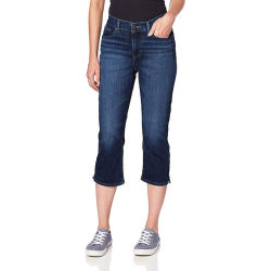 Mulher casual clássico Jeans Skinny recortada