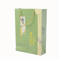 Personalisierbare Großhandels-Papiertasche Logo Einkaufstasche/Kraft Papiertüte Druck für Schmuckverpackungen