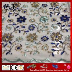 Una gran variedad de opciones de color de la malla de poliéster tejido de seda bordado de encaje