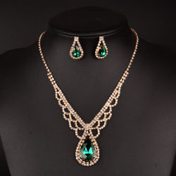 최신 디자인 금 보석 목걸이 다이아몬드 목걸이