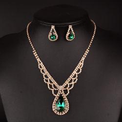 متأخّر تصميم نوع ذهب مجوهرات عقد [ديموند نكلس]