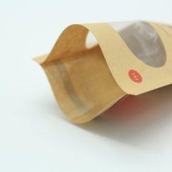 Die Drucken-Packpapier-Beutel-Nahrungsmittelkaffee-Imbisse anpassen, die mit Fenster verpacken