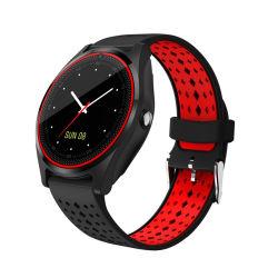 Assistir ao desporto com câmera de vigilância inteligente suporte a Bluetooth TF Cartão SIM PODÔMETRO MP3 Desporto Relógio Smartwatch Android v9
