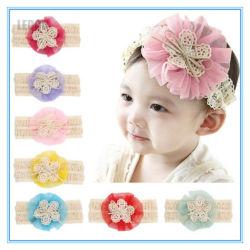 2019 Banheira de venda por grosso de flores de croché rendas elásticas Bandas de bebé