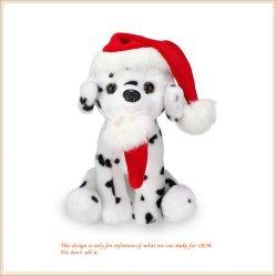 Kundenspezifische Plüsch-Hundespielzeug-Feiertags-Dekoration-Geschenke für glückliches Weihnachten