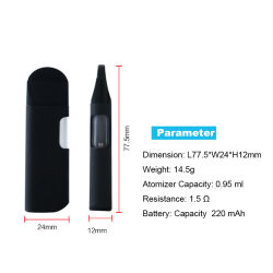 Entrega rápida de cigarros electrónicos personalizados óleo espesso Cdb Cera descartável Caneta Vaporizador