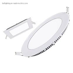 CE RoHS Vierkant rond Oppervlak Gemonteerd ultradun slank SMD LED-paneel licht 3W 6W 12W 15W 18W 24W 48W voor plafondverlichting lamp