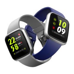 Новые поступления водонепроницаемый квадратных Сенсорный цветной экран Pressurement крови и монитор браслет комбинированный цифровой Smart запястья смотреть