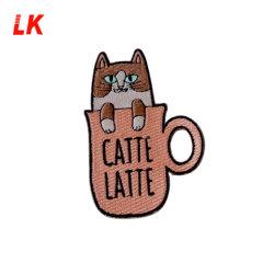 Lindo Logotipo personalizado de hierro en las marcas de ropa de parche de dibujos animados