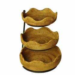 Ronda de pruebas de pan artesanal cestas cesta de mimbre natural