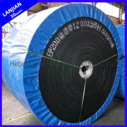 Haute résistance de la courroie du convoyeur en polyester industriel Ep la courroie en caoutchouc