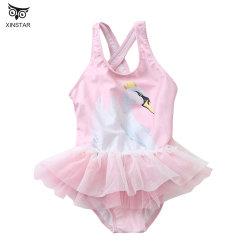 أزياء جديدة مخصصة فتاة صغيرة زهرة ملابس سباحة لطيف الأطفال واحد قطعة ملابس سباحة جميلة