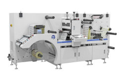 Dbgs-320 Iml Intermitterende Stickersnijder Semi Rotary Adhesive Paper Label Film Roll Slitting Sheetting/Sheet Automatische Stansmachine Gemaakt In China