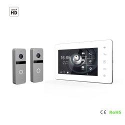 7 дюймов экрана IPS Smart дверь видео домофон Добро пожаловать Interphone домашние системы безопасности