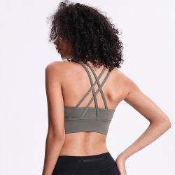 El diseño posterior Bollow Shock-Proof Flexiones sexo Yoga Bra