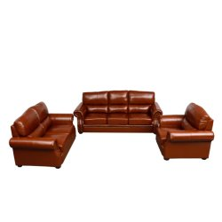 Meubels Huis Leder Bank Set woonkamer Bank Indoor meubilair Huis1 2 3 Sofa-sets