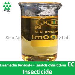 El 1% + Benzoato Emamectin lambda-cialotrín 4% ce de insecticida plaguicida