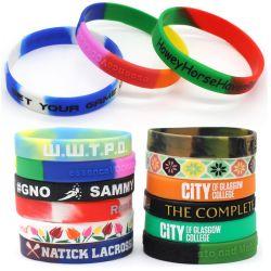 Commerce de gros bon marché silicone personnalisé Fashion Sport Logo d'impression de la bande de caoutchouc de silicone Bracelet Bracelet pour cadeau promotionnel