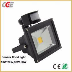 Bewegungs-des Fühler-LED Flut-Lampe der Leistungs-LED 10With20With30With50W im Freiender lampen-Infrarot-PIR Flut-des Licht-LED