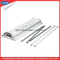 Хорошего качества пластика стального валика вверх подставку, потяните подставку баннеров, двойной стороны типа