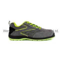 Semelle PU Cuir de daim Steel Toe semelle intermédiaire en acier de l'acier le travail du cuir Sport Chaussures de sécurité