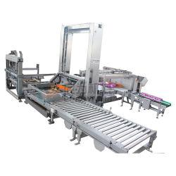 Pórtico automático de bajo nivel de la capa de empuje lateral Palletizer apilador para mojar un pañuelo de papel