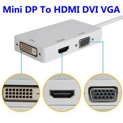 3 em 1 Mini Displayport (Raio) para DVI TV HDMI Cabo adaptador VGA para Apple iMac e MacBook Superfície Superfície Livro PRO 3/4 Thinkpad