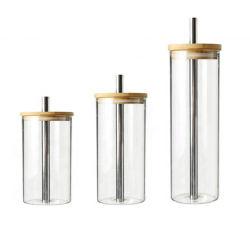 Le verre Tumbler tasse avec Custom FDA en acier inoxydable réutilisables Boba Logo de paille