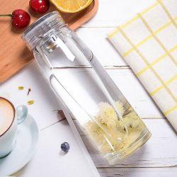 Meilleur Bouteille de verre pour 350ml 450mlportable Sports Bouteille à eau en verre borosilicaté avec housse en néoprène Sleeve Couvercle et filtre à thé