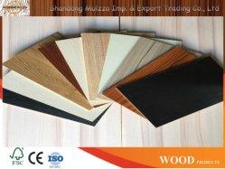 MDF laminado de melamina con colores de moda para la construcción de materiales y mobiliario