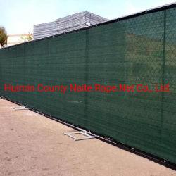 90% 280GSM 100% HDPE УФ пользовательского ограждения защитный экран сетчатый материал, взаимозачет и лобовое стекло
