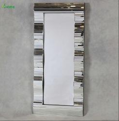Comercio al por mayor elegante elegante piso de madera de gran prestigio de Espejo Espejo de cuerpo entero/espejo de la Frontera