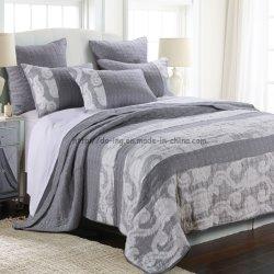 Conjunto de roupa de casa as rendas de algodão de roupas de cama de patches em cinza (FAZER6084)