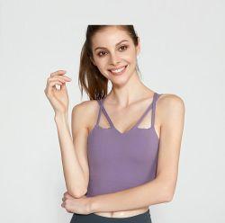 Sportsuit mujer manga corta la parte superior de desgaste para el Yoga
