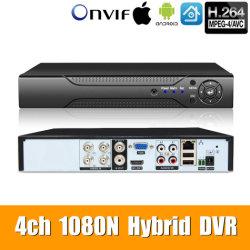5В1 4CH*1080n Ahd DVR наблюдения Безопасность CCTV видеорегистратор гибридный цифровой видеорегистратор аналоговых Ahd Cvi Tvi IP-камера