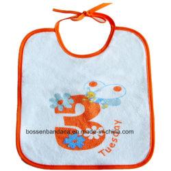 Producir la fábrica de algodón impresos Diseño Personalizado Felpa babero de bebé