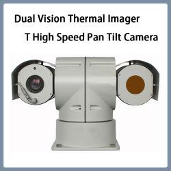 二重視野の測定タイプ赤外線イメージ投射熱速度険しいPTZのカメラ