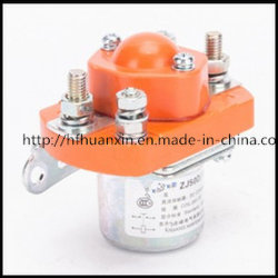 Zj50d 12V 48V DC Contactor Relé eléctrica magnética