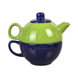 [مولتي-كلور] خزف يتضمّن شاي لأنّ أحد 15 [أز] شاي إناء و12 [أز] فنجان - شاي خزفيّة لأنّ أحد