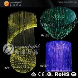 Moderne Kristallfaser-Optikleuchter-Lampe (OM060)