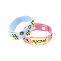 Populaires de couleur personnalisée Joli bracelet en silicone de gaufrage en 3D