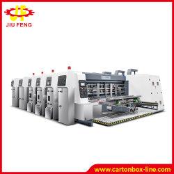 Druk die van Flexo van de Hoge snelheid van de Machines van het Karton van Jiufeng de Automatische Die-Cutting Machine van de Verpakking van de Machine van het Document van de Machine G4 inlassen