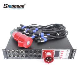 Las4+8 5 코어 6 채널 오디오 시스템 스피커 힘 관제사 32A 단계 전원 분배 상자