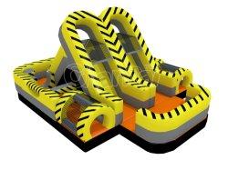 Zona de tóxicos Turbo Rush Carrera de Obstáculos inflables para niños Chob1154