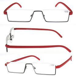 2018 La moitié des lunettes de lecture de métal rime avec étui
