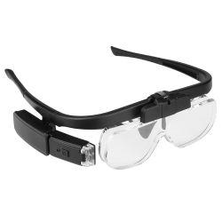 眼鏡拡大鏡、 LED ライト充電式バッテリ、スペクタクル拡大鏡付き 3 レンズあり