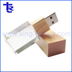 熱い販売法の水晶USB 8GB USBのフラッシュ駆動機構のギフト